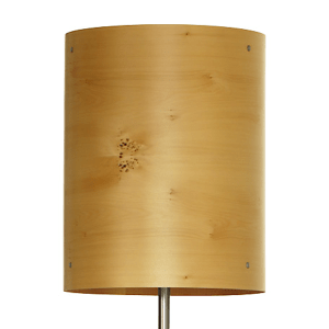 timber veneer floorlamp