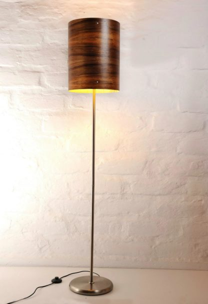 Axiom Timber Veneer Floor Lamp in Blackwood