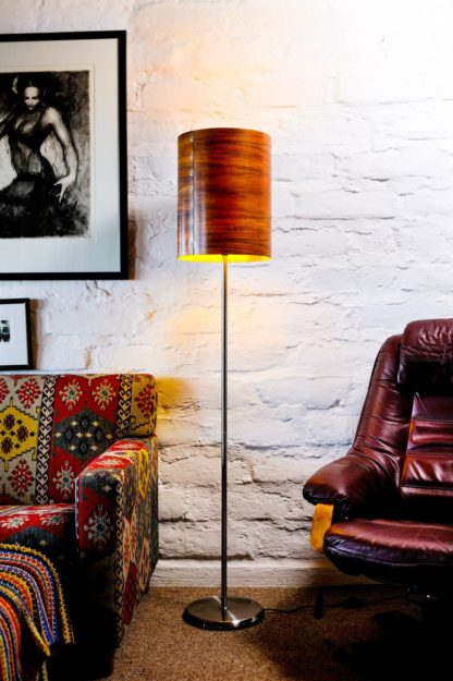 Axiom Timber Veneer Floor Lamp in Myrtle