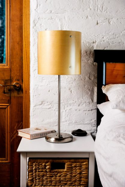 Axiom Timber Veneer Table Lamp in Huon Pine