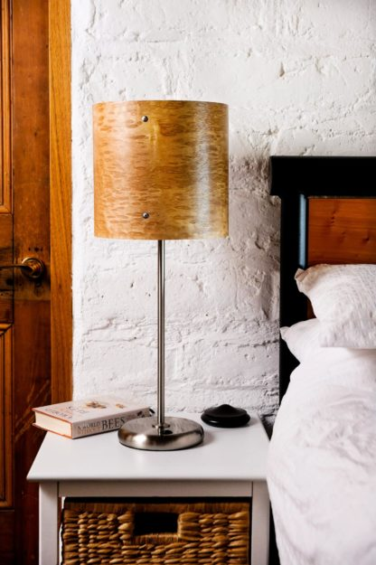Axiom Timber Veneer Table Lamp in Rain-drop Figured Oak