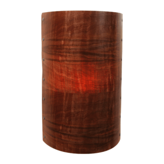 Axiom Drum Wall Light in Blackwood