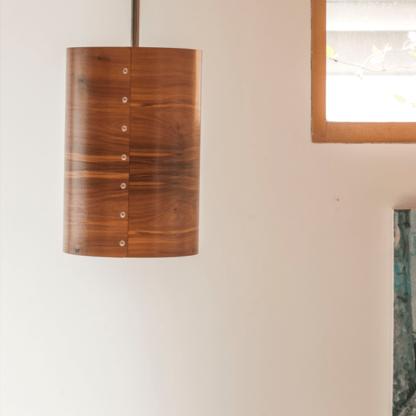 Timber Veneer Pendant in Tasmanian Blackwood