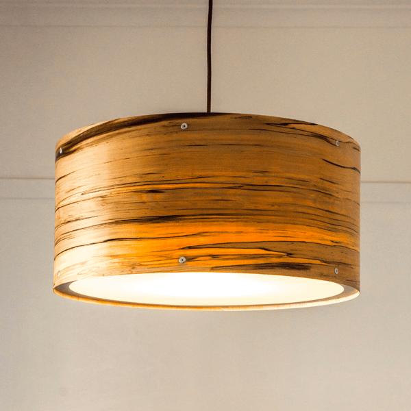 Timber Veneer Drum Pendant Lights